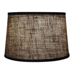 "Mathews & Company - Burlap 16"" Drum Floor Lamp Shade - Our Rustic style Burlap 16"" Drum Floor Lamp Shade is a beautiful piece of hand-crafted accent for any lamp base."