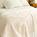 PCH Baja's Matelasse Coverlet - Sometimes you just need a little extra warmth. I love the texture on this coverlet as well as its soft, soothing color.