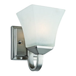 Design House - Design House 514745 Torino Transitional 1 Light Up Lighting Wall Sconce - Design House 514745 Transitional 1 Light Wall Sconce from the Torino CollectionThe Torino Bath/Vanity Light is made of Snow Glass shades, complementing well with related style chandeliers, wall/vanity lights, and pendants.Features: