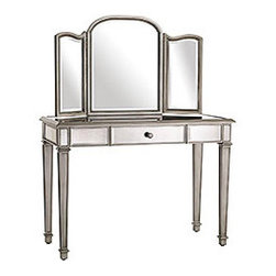 Hayworth Mirror & Vanity - This vanity is traditionally glam. If I got tired of it, I'd remove the mirror and use the table as a desk or console!