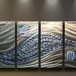 Matthew's Art Gallery - Metal Wall Art Abstract Sculpture Wall Decor Ocean Breeze - Name: Ocean Breeze