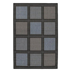 Frontgate - Summit All-weather Rugs in Black/Brown - 100% fiber-enhanced polypropylene rug. Resistant to fading, mildew, and mold. Rugged enough to withstand months of blistering sun and torrential downpours. Quick-dry outdoor rugs will be fine after an unexpected summer shower. These Summit All-weather Rugs add inviting warmth to sunrooms, stone entryways and decks. Created with rich, unique colors, these outdoor area rugs complement the simple yet classic styling of patio furniture.. . . . Other rug designs vary by size.