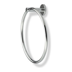 StilHaus - Round Chrome or Satin Nickel Towel Ring - Towel ring made of brass in 2 available finishes. Towel ring made of brass. Available in 2 finishes. From StilHaus Venus Collection.