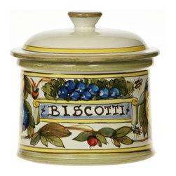 Ceramic - Tuscan Fruit Biscotti Jar - Tuscan Fruit Biscotti Jar