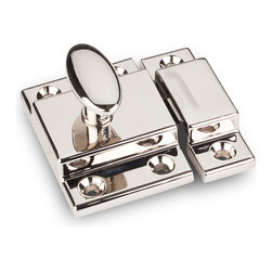 Jeffrey Alexander - Nickel Cabinet Door Latches - Jeffrey Alexander item number CL101-NI is a beautifully finished Nickel Cabinet Door Latches. Product Dimension(s): Hole Spacing: 96.012 mm. / 3 25/32 in.Diameter: 13.97 mm. / 9/16 in.