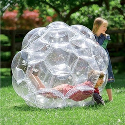 51-inch Clear View Transparent Great Big Outdoor Playball - Have you ever wanted to pretend you were a roly-poly ball? Here's your chance! I suppose the kids would love it too.
