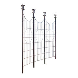 H Potter - H Potter Garden Screen / Patio Screen - Make your outdoor area even more beautiful with this refined trellis screen. It's adorned with tasteful finials and graceful lines, as well as appealing latticework that can be left open or used for plantings.