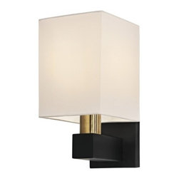 """Sonneman - Sonneman Cubo Wall Sconce - The Cubo Wall Sconce by Sonneman has been designed by Robert Sonneman. The Sonneman Cubo is a puristic celebration of geometry. A softly luminous, slim-lined cube floats atop the contrast of natural brass and black rounded column and rectangular perch, providing indirect and ambient light for special area. The Cubo collection bring fresh sophistication into your home or architect-inspired space.  Product description:  The Cubo Wall Sconce by Sonneman has been designed by Robert Sonneman. The Sonneman Cubo is a puristic celebration of geometry. A softly luminous, slim-lined cube floats atop the contrast of natural brass and black rounded column and rectangular perch, providing indirect and ambient light for special area. The Cubo collection bring fresh sophistication into your home or architect-inspired space.  Details:      Manufacturer:     Sonneman         Designer:    Robert Sonneman        Made in:    USA        Dimensions:     Shade:Width:6"""" (15.24 cm) X Height:8"""" (20.32 cm) ,               Wall Plate:Width:4.5"""" (11.43 cm) X Height:6"""" (15.24 cm)   Overall:Width:6"""" (15.24 cm) X Height:11.5"""" (29.21 cm)      Light bulb:     1 X E26 Medium BaseMax  75W Incandescent (not included)        Material:     Metal"""