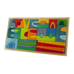 It Makes a Village Block Set - Every playroom needs some bright and colorful toys. These vintage-inspired blocks are great for every generation and are gender neutral.