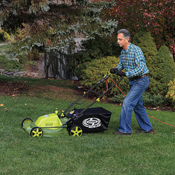 Snow Joe - Sun Joe 20-inch Electric Mower - No gas, oil or tune-ups make it effortless to start and maintain. Sun Joe Mow Joe is maintenance free with a 20-inch corded electric mower with side mulcher.