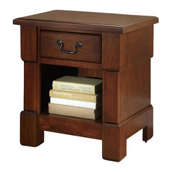 Home Styles - Home Styles Aspen Night Stand in Rustic Cherry - Home Styles - Nightstands - 552042 - Create ambiance with a perfect balance of warmth and style with The Aspen Collection Night Stand by Home Styles.The Night Stand encapsulates distinguished Americana style.