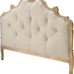 Candelabra Home - Candelabra Home Wood Tufted Headboard King - Materials: Textile, WoodColors: Brown, Beige
