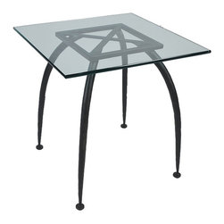 Mathews & Company - Pinnacle End Table Base Only - This modern Pinnacle End Table Base Only allows you to use your own table top such as granite, custom wood, stone, or glass. Pictured in Black finish.