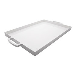 White Large Tray - Serving with style isn't just for Wimbledon.