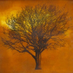 """Tree At Twilight"" (Original) By Deborah Stachowic - I Love The Feeling Of Light At Twilight In The Painting, Evokes A Lot Of Emotion."