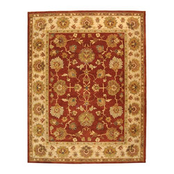 """Safavieh - Bergama Maroon/Brown Area Rug BRG137A - 2'3"""" x 12' - The Bergama Collection includes beautiful reproductions which are hand-tufted to create the same symmetrical knots used in the antique rugs in Safavieh's private archival collection of Peshawar rugs. Made in India, the pure wool rugs in this collection recreate the design and quality of Peshawars made for the top end of the market to a broader base of customers with superior hand tufted quality."""