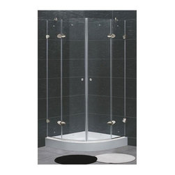 Vigo Industries - Frameless Neo-Round Clear Glass Shower Enclosure with Base - Vigo designs easy-to-install shower enclosures to enhance any bathroom and suit your needs.