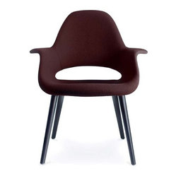 "Vitra - Organic Chair by Charles Eames and Eero Saarinen | AllModern - Features: -Constructed of laminated seat shell with polyurethane foam upholstery and beech legs. -Dimensions: 32.5"" H x 28.5"" W x 26.5"" D."