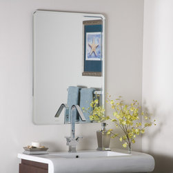 Decor Wonderland Mirrors - Decor Wonderland Samson Large Frameless Mirror - Stunning and simple, the Samson frameless bevel mirror works in any room. Measuring 31.5x23.5 this large wall mirror reflects, illuminates and enlarges any space. Match it with contemporary living room furniture or a modern bathroom, this mirror is sure to impress.