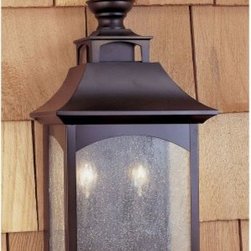 Murray Feiss Homestead Outdoor Pocket Wall Lantern - 18.25H in. Oil Rubbed Bronz - The Murray Feiss Homestead Outdoor Pocket Wall Lantern is a contemporary touch to your traditional home. This light features an oil-rubbed bronze finish and seeded-glass shades. For ample outdoor lighting use two 60-watt candelabra base bulbs (not included). Clean the fixture with a damp cloth and mild soapy water and the shades with household glass cleaner. This light measures 9.5W x 18.25H x 6.5Ext inches.About Murray Feiss LightingThree generations have built Murray Feiss as a renowned name in lighting and it now stands as a leader with a reputation for impeccable craftsmanship innovative design and honest value. Murray Feiss prides itself as the foremost designer and manufacturer of interior and exterior lighting and home decor in the lighting industry. Over 3 800 skilled artists and technicians bring Murray Feiss designs to life meticulously finishing and quality-testing each exclusive product. Murray Feiss Lighting has expanded its extensive copyrighted line of products to include grand chandeliers casual fixtures vanity bath lights with coordinated bath hardware outdoor lighting lamps torchieres wall brackets mirrors and decorative accessories. Whether outdoor or in lighting from Murray Feiss means high quality and innovation.