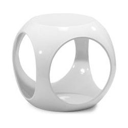 Fiberglass Penny Ball Stool/ Side Table - I like the futuristic look of this table. I would stack magazines, or maybe even a light, inside of it.