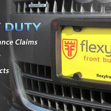 flexyframe® front bumper protection, license plate holder, rear bumper guard