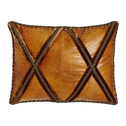 Sweet Dreams - Standard Crisscross Faux-Leather Sham - CAMEL/BRONZE (STANDARD) - Sweet DreamsStandard Crisscross Faux-Leather ShamDesigner About Sweet Dreams:For over 25 years this family-owned company has been a leader in opulent luxury bedding and decorative pillows. Recognized as an innovator in heirloom-quality home textiles Sweet Dreams creates collections of true elegance and aesthetic beauty using made-in-USA craftsmanship and choice fabrics from around the world.