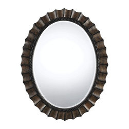 Cal Lighting - Cal Lighting WA-2160MIR Sycamore Oval Beveled Mirror - Features: