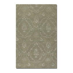 Uttermost - Uttermost Geneva 8 x 10 Rug - Laurel Green 73035-8 - Laurel Green Wool And Viscose Blend, With Weathered Silver Details And Taupe Accents.