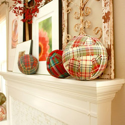 Modern Country Mantle - Wood fireplace mantle with class tile. Modern with a country touch!