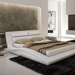 Contemporary, Modern Bedroom Collection - The Wave Bed is alluring and inviting. A very impressive design of curvature and arches. The design is chic enough to provide exclusivity, yet the lustrous design adds a subtle touch of elegance. The Wave bed is sure to demand instant attention when entering the bedroom.