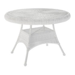 Forever Patio Rockport 42 in. Round Patio Dining Table with Glass Top - The Forever Patio Rockport 42 in. Round Glass Top Patio Dining Table is ideal for dining al fresco. This dining table has a round design and seats four comfortably. It's well-made with an aluminum frame with rust-resistant powder-coated finish. Its round-weave wicker design comes in the UV-protected finish color of your choice. The tempered glass top provides a handsome and durable surface that's a breeze to maintain.About NorthCapeNorthCape started in 1980 with a lone entrepreneur selling wicker furniture at flea markets. NorthCape is now a thriving international company designed to help you live life outdoors in style. They provide comfortable, stylish outdoor furniture at an affordable price. NorthCape strikes the balance between classic designs and current trends. They combine durable frames with comfortable cushions and exquisite Sunbrella fabrics for outdoor living furniture that is both beautiful and functional.