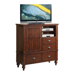 Riverside Furniture - Riverside Furniture Castlewood Media Chest in Warm Tobacco - Riverside Furniture - Chests - 33564 - Riverside's products are designed and constructed for use in the home and are generally not intended for rental, commercial, institutional or other applications not considered to be household usage.