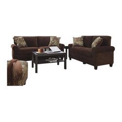 Serta by True Innovations - Serta Trinidad 2 Piece Sofa Set in Chocolate Fabric - Serta by True Innovations - Sofa Sets - CR43537CR43528PKG