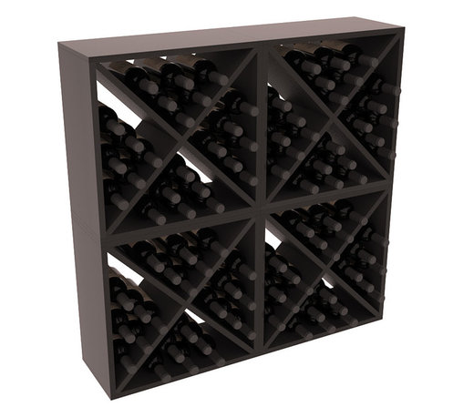 "Wine Racks America - 96 Bottle Wine Cube Collection in Premium Redwood, Black Stain + Satin Finish - Perfect for moderate storage requirements and converting that ""underneath"" space into wine storage. Mix and match finishes to show your true wine-lover's spirit or experiment for a modern wine rack twist."