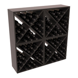 """Wine Racks America - 96 Bottle Wine Cube Collection in Premium Redwood, Black Stain + Satin Finish - Perfect for moderate storage requirements and converting that """"underneath"""" space into wine storage. Mix and match finishes to show your true wine-lover's spirit or experiment for a modern wine rack twist."""