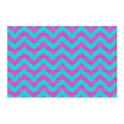 DiaNoche Designs - Area Rug by Monika Strigel - Hakuna Matata Layer - Finish off your bedroom or living space with a woven Area Rug with Chevron pattern  from DiaNoche Designs. The last true accent in your home decor that really ties the room together. Maybe its a subtle rug for your entry way, or a conversation piece in your living area, your floor art will continue to dazzle for many years. 1/4 thick. Each rug is machine loomed, washed and pre-shrunk, printed, then hemmed on the edges.   Spot treat with warm water or professionally clean. Dye Sublimation printing adheres the ink to the material for long life and durability