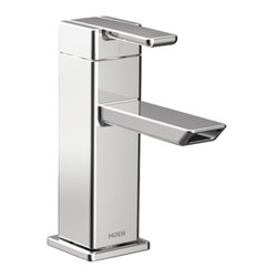 Moen - Moen S6700 90-Degree Series Single-Handle Low-Arc Bathroom Faucet (Chrome) - With its ultra-contemporary styling, the 90 Degree collection brings a sharp, clean look to the home.