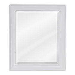 Recessed Panel Vanity Set with Fluted Pilasters Matching Mirror (White) - Recessed Panel Vanity Set with Fluted Pilasters Matching Mirror