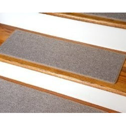 "Dean Flooring Company - Dean DIY Carpet Stair Treads 23"" x 8"" - Beige - Set of 13 Plus Double-Sided Tape - Dean DIY Carpet Stair Treads 23"" x 8"" - Beige - Set of 13 Plus Double-Sided Tape : Quality, Stylish Carpet Stair Treads by Dean Flooring Company Extend the life of your high traffic hardwood stairs. Reduce slips/increase traction (your treads must be attached securely to your stairs). Cut down on track-in dirt. Great for pets and pet owners. Helps your dog easily navigate your slippery staircase. 100% Polypropylene. Set includes 13 carpet stair treads PLUS one roll of double-sided carpet tape for easy, do-it-yourself installation. Each tread is bound around the edges. No bulky fastening strips. You may remove your treads for cleaning and re-attach them when you are done. Add a touch of warmth and style and a fresh new look to your stairs today with new carpet stair treads from Dean Flooring Company! This product is designed, manufactured, and sold exclusively by Dean Flooring Company."