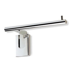 """Stilhaus by Nameeks - Quid Wall Mounted Toilet Paper Holder in Chrome - Features: -Wall mounted toilet paper holder. -Quid collection. -Chrome finish. -Brass construction. -Made in Italy. -Overall dimensions: 2.95"""" H x 6.7"""" W x 2.8"""" D."""