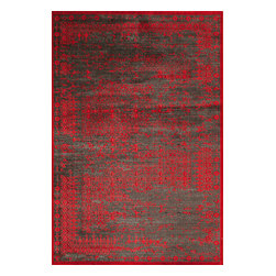 "Momeni Rug - Momeni Rug Vogue 3'2"" x 5' VG-03 Red VOGUEVG-03RED3250 - The Vogue Collection features modern interpretations of classic designs, presented in rich jewel tones for sophisticated elegance. A gorgeous addition to any home, each rug is made in Turkey from a soft viscose for luscious sheen and splendid texture. A vibrant addition to contemporary living, the Vogue Collection is sure to become a fast favorite."