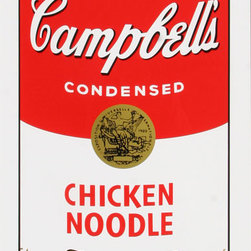 "Andy Warhol Campbell Soup Can (Chicken Noodle)Sunday B Morning Silkscreen Popart - STUNNING CAMPBELLS SOUP CAN ANDY WARHOL SUNDAY B MORNING SERIGRAPH SCREEN PRINT!, These are fabulous exciting silkscreen screenprints. These are Sunday B. Mornings editions screenprints that are stamped on the verso in blue ink published By Sunday B Morning, fill in Your Own Signature. The inks' are the 1980's editions and the quality and integrity of the prints is impeccable. They are excellent High quality Silkscreen Screenprints printed on 'museum board' with the highest quality archival inks. Comes with Certificate of Authenticity. These are highly sought after by collectors for their quality, rarity and exciting vibrant colors.These are in excellent mint condition. Size is large at 35"" x 23"" inches."