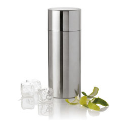 Stelton - Cylinda Cocktail Shaker - Lovers of design classics are in for another treat. Ever since the 1960s, bar accessories from Arne Jacobsen's Cylinda-Line have defined the good life when it comes to serving everything from the perfect martini (shaken or stirred) to a classic scotch and soda.