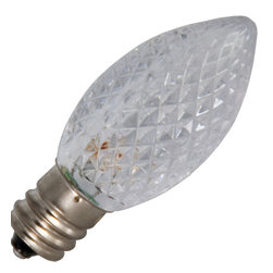 Bulbrite - Bulbrite 770171 LED/C7C | 0.6W 120V C7 LED Clear E12 Base Bulb - This Bulbrite 770171 LED/C7C 0.6W C7 LED clear candelabra (E12) base bulb is cool to the touch. This product also lasts 10 times longer than incandescent bulbs. Plus, it is a true retrofit for the C7 bulb. It produces a 7W light output, but consumes only 0.6W. Applications include amusement, industrial, and sign/display lighting.