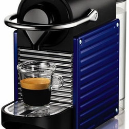 "Pixie Indigo Coffee Machine - Okay, this might not seem ""inexpensive,"" but if you like superb coffee, this will save you money in the long run. One coffee capsule is about $.55 — compare that to Starbucks. If you like a nice café au lait in the morning or an after-dinner espresso, this will not disappoint. It is less expensive than many fancier espresso machines, the design is sleek, and it comes in several colors too."