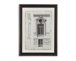 Bassett Mirror - Bassett Mirror Framed Under Glass Art, Motifs Historiques II - Motifs Historiques II