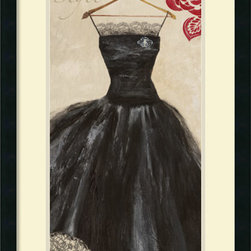 Amanti Art - Aimee Wilson 'Style' Framed Art Print 19 x 31-inch - It is all about the black dress.  Celebrate fashion culture and couture with this Stylish framed print by Aimee Wilson.
