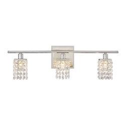 Sparkle Chrome Crystal Vienna Full Spectrum Bathroom Light -