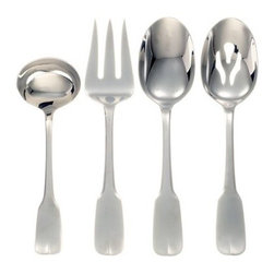 Ginkgo Alsace Stainless Mirror Finish Flatware Hostess Set - Set of 4 - About Ginkgo International LtdGinkgo International Ltd. was founded in 1977 by Wes and Janet Helmick. Their goal was to bring to the market original quality flatware designs at the best possible price. Now a second generation family business Ginkgo continues to offer consumers the highest quality flatware and cutlery products at the best possible value.